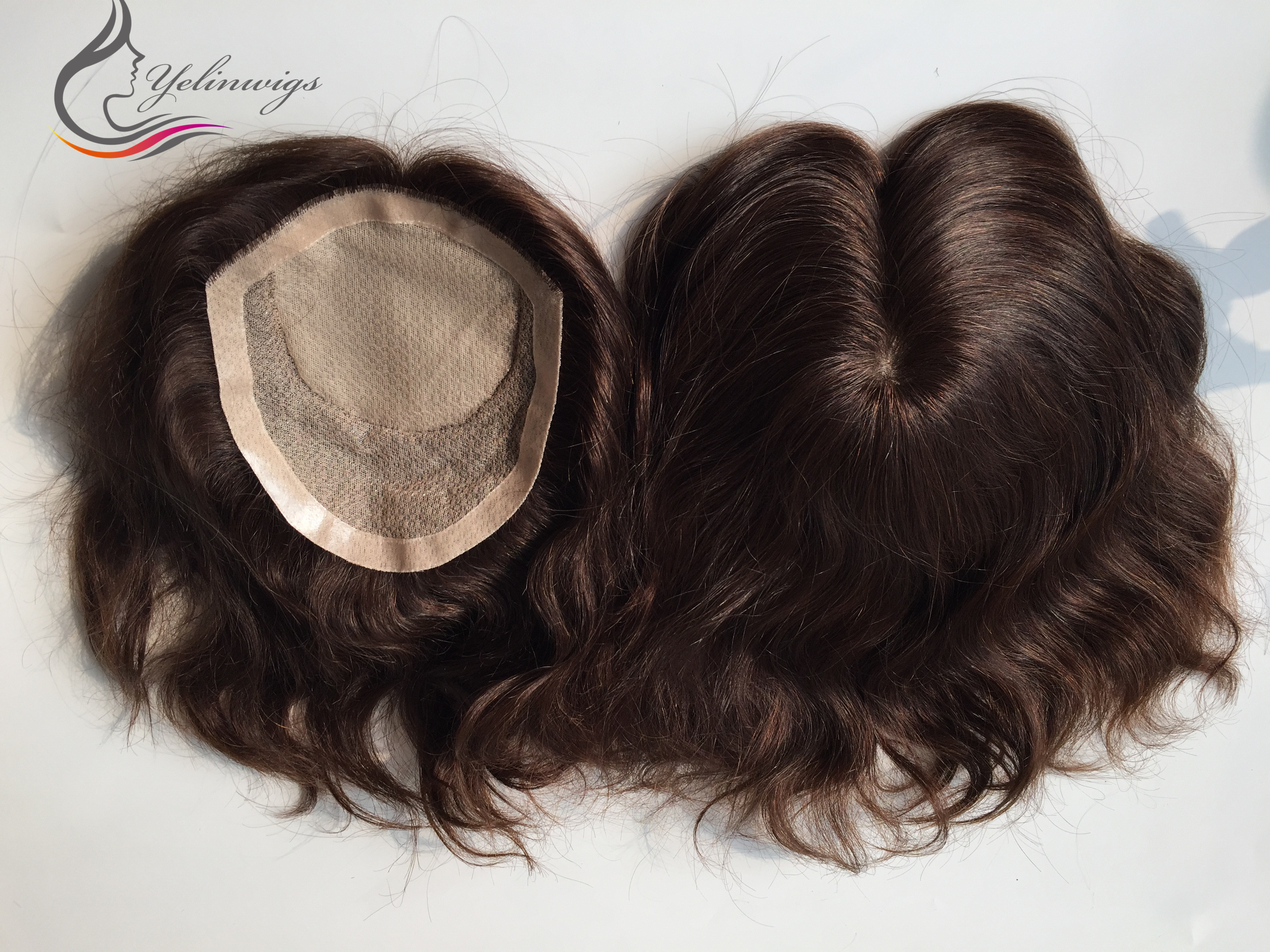 Stock Pieces Full Handtied Brazilian Virgin Hair Topper In Stock 6x7 Size Base With Free Shipping