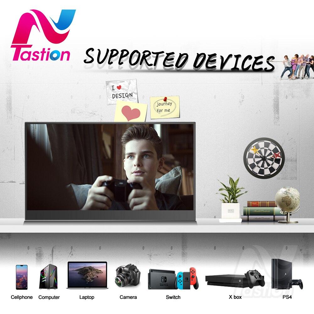 Lantastion 15,6 inch tragbare monitor hdmi typ-c display für laptop computer telefon xbox schalter ps3 ps4 gaming monitor
