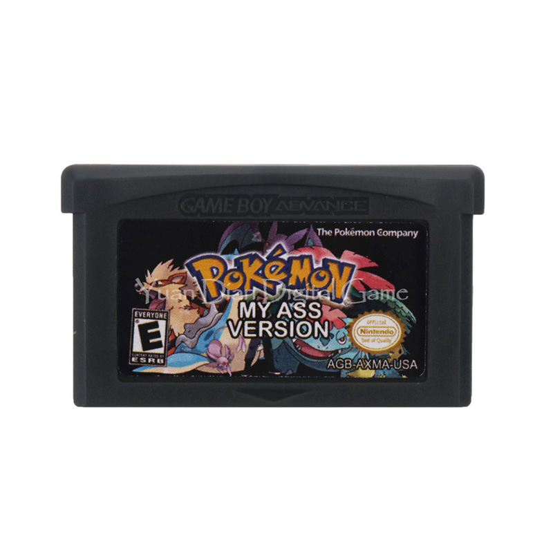 For Nintendo GBA Video Game Cartridge Console Card Poke Series My Ass English Language US Version