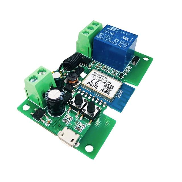 Smart Module USB 7-32V DIY 1 Channel Jog Inching Self-locking WIFI Wireless Smart Home Switch Remote Control with Amazon Alexa 5