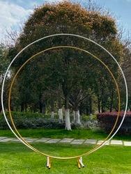 Металлическая круглая свадебная АРКА, круглый шар, цветок, Круглый фон, арка, подставка, день рождения, украшение для детского душа