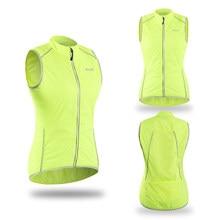 Women Cycling Vest Pro Outdoor Sportswear Windproof MTB Downhill Sleeveless Jacket Mountain Bike Bicycle Jersey Reflective