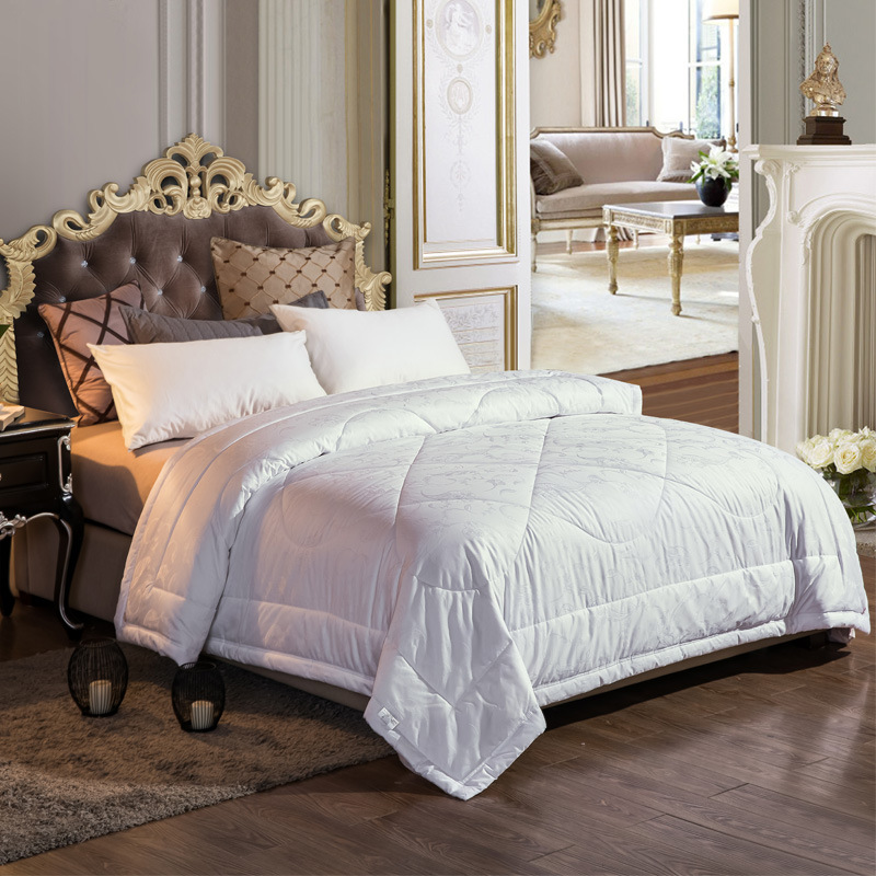 Luxurious 100% Cashmere Comforter Queen Duvet Insert All Seasons Solid White Hypo-allergenic 100% Cotton Jacquard Shell With Tab