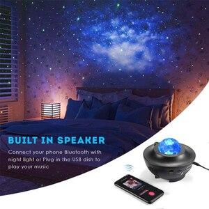Image 4 - ZK20 Galaxy projektor lampka nocna gwiaździsty Ocean Wave projektor romantyczny kolorowy gwiaździsty USB sterowanie głosem głośnik muzyczny Bluetooth