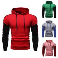 2019 Casual Hooded Men Moletom Masculino Fashion New Patchwork Hoodies Sweatshirt Coat Mens Slim Sportswear Tracksuits negizber 2019 new autumn winter mens hoodies solid patchwork slim fit pullovers men fashion casual hooded hoodies men