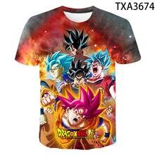 2020 novo verão 3d t camisa menino menina crianças goku moda streetwear das mulheres dos homens crianças manga curta impresso camiseta legal topos t