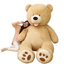100-260cm America Giant Teddy Bear Plush Toys Soft Teddy Bear Outer Skin Coat Popular Birthday&Valentine's Gifts Girls Kid's Toy