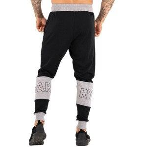 Image 3 - Pantalon de sport pour homme, pantalon de Fitness pour jogging, en coton extensible, vêtement Slim pour entraînement, automne, décontracté