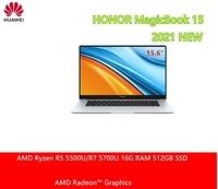 HONOR MagicBook 15 2021 portátil de 15,6 pulgadas AMD Ryzen 5 5500U/5700U 16G RAM 512GB PCI SSD IPS de pantalla completa