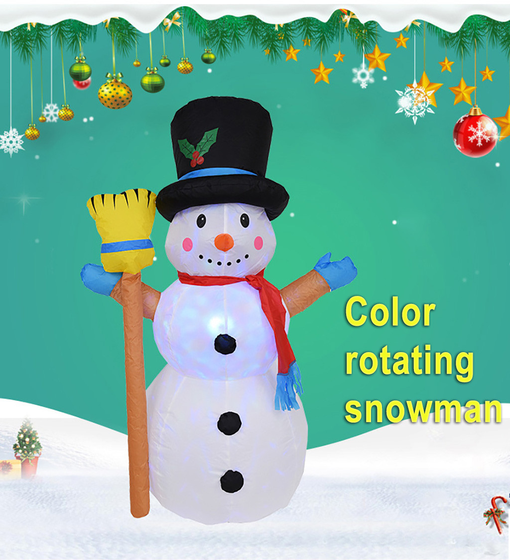 MUQGEW 1.2m Inflatable Model Toys Christmas Snowman Led Model Snowman Doll B-room Cover Toy Christmas Decoration Wy6