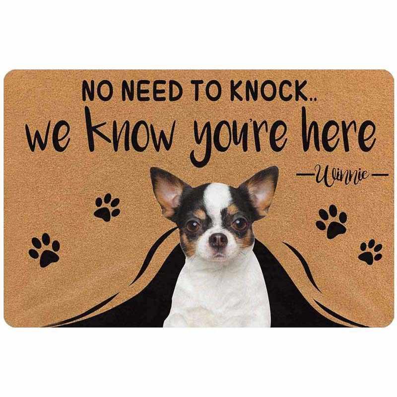 Rubber Doormat Entrance Floor Mat No Need To Knock Dog Has