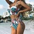 Бикини 2021, Женский комплект бикини с оборкой и высокой талией, купальник пуш-ап, купальный костюм, женский танкини, купальный костюм, женское...