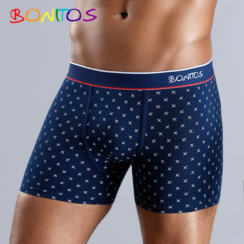Underpants Man Boxer-Shorts Sexy Male Cotton for Family Homme