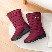 Winter Boots Shoes Waterproof Thick Fashion Women's Non-Slip Warm Cotton Solid