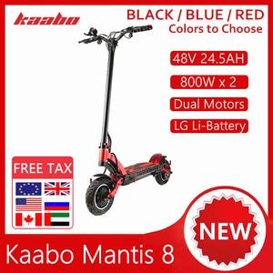 Kaabo Mantis 8 Kickscooter 48V 24.5AH 1600W Dual Motor Smart Electric Scooter 8 Inch Dual Brake Shock Absorber Hover Skateboard