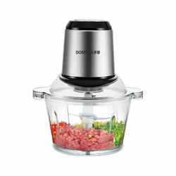 2L Stainless steel mixer double-gear meat mincer household stuffing minced pepper garlic mash machine food processor hand mixer