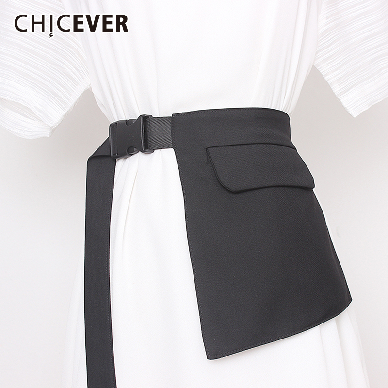CHICEVER Irregular Women's Belt High Waist Lace Up Pockets Clothes Accessories Korean Adjustable Belts Female Summer 2020 New