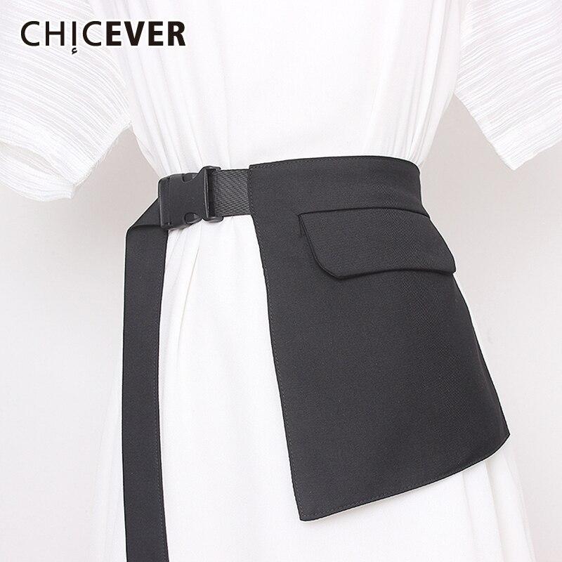 CHICEVER Irregular Women's Belt High Waist Lace Up Pockets Clothes Accessories Korean Adjustable Belts Female Summer 2020 New