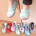 Для Новорожденных Для маленьких мальчиков обувь для девочек ясельного возраста, удобные мягкие носки с противоскользящим покрытием; Женск...