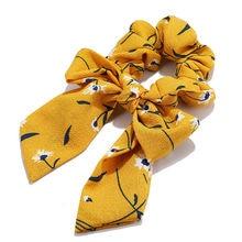 Chiffon Hair Scrunchies Women Fashion Pearl Ponytail Holder Hair Tie Hair Rope Rubber Bands Hair Accessories Bowknot Headwear