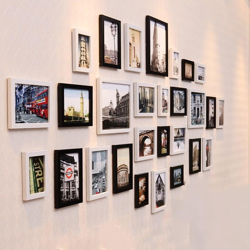 28 pçs/set Simples e Moderno europeu Photo Frame Família Molduras Para Pinturas Sala Decoração Da Foto Da Parede Combinação - 5