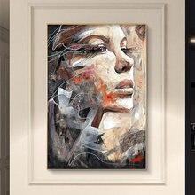 Абстрактная женщина плакаты портреты и принты акварель девушка
