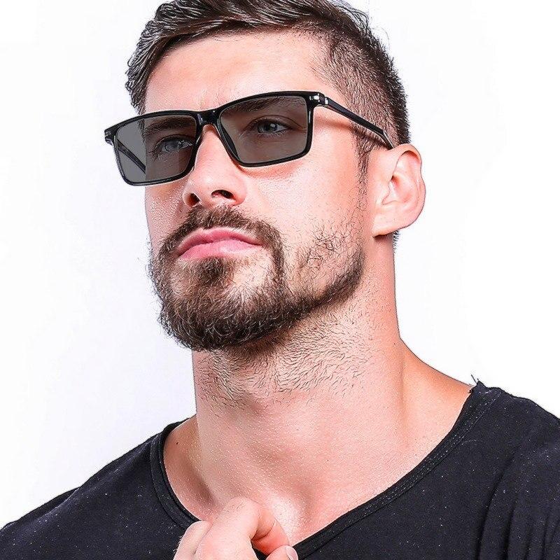 Large frame glasses frame ultra light TR90 men's glasses frame, myopia, customizable prescription, photochromic lenses