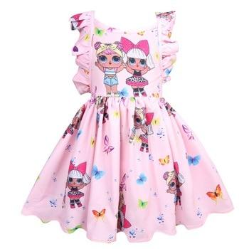 L.O.L. مفاجأة! طفل فتاة فستان الصيف الاطفال الملابس الترفيه الأميرة فستان الكرتون توتو فساتين هالوين زي حفلة