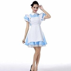 Image 4 - למעלה למכור אליס בארץ הפלאות Cosplay תלבושות לוליטה שמלת עוזרת סינר שמלת פנטזיה קרנבל ליל כל הקדושים תלבושות עבור נשים