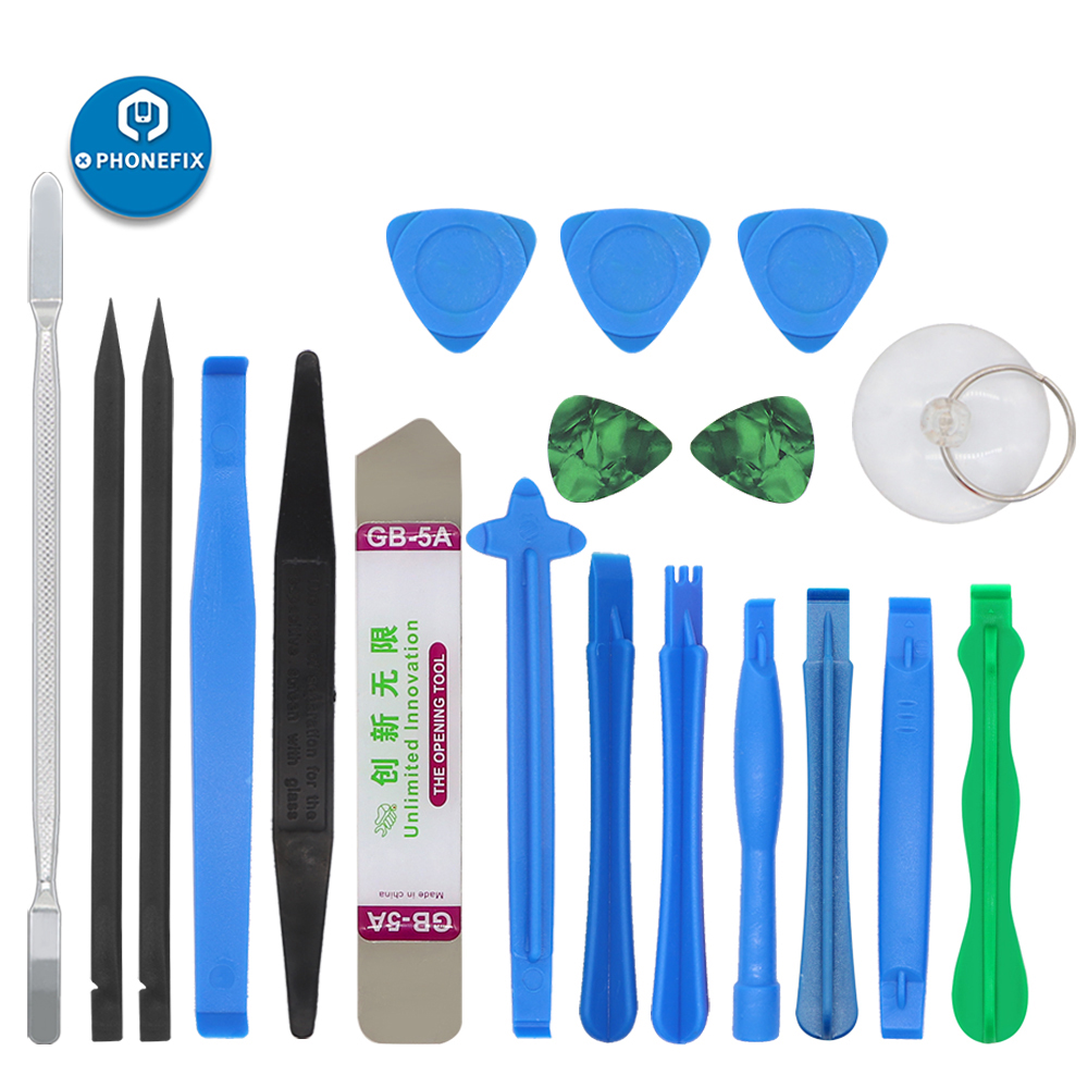 19pcs Plastic Spudger Pry Tools Blade Suction Cup Opening Tools Electronics Tool Opening Repair For IPhone LCD Screen Repair Kit