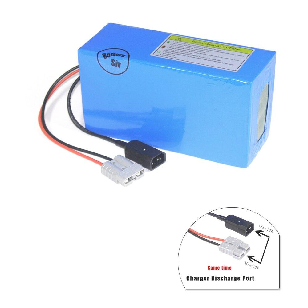 Batería de litio con cargador BMS 6A, 72V, 48Ah, 100A/200A