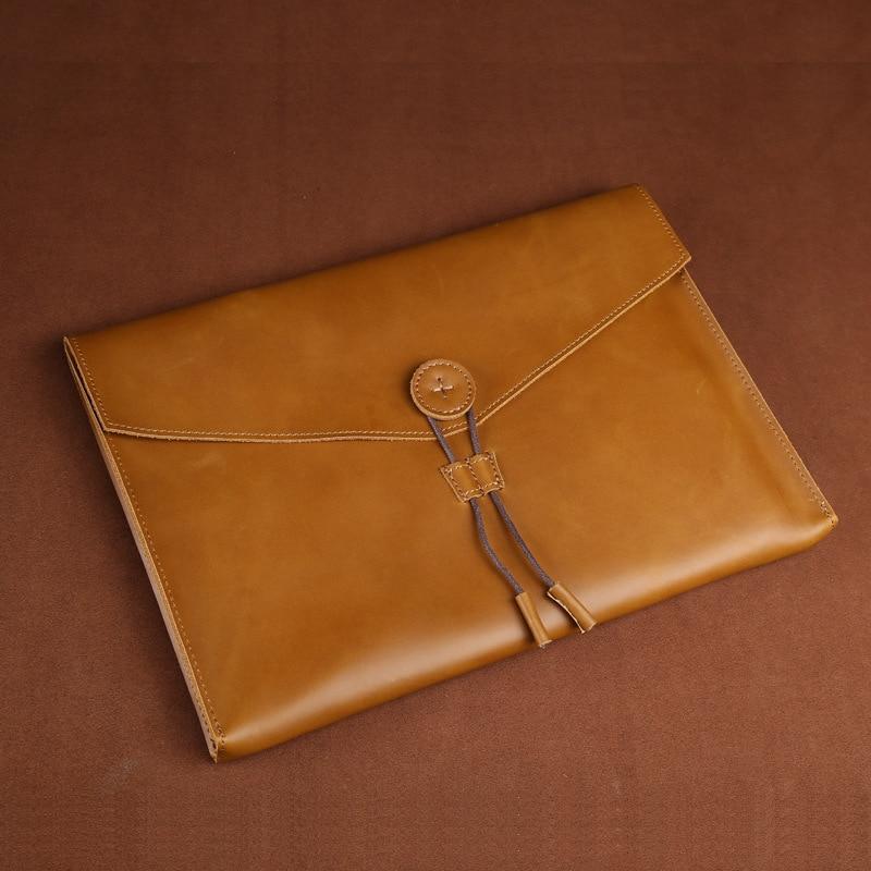 Men Bag Messenger Handbag Genuine Leather Women Brown Crazy Horse Business Briefcase For Man Document Holder A4 Hand Bag 0021