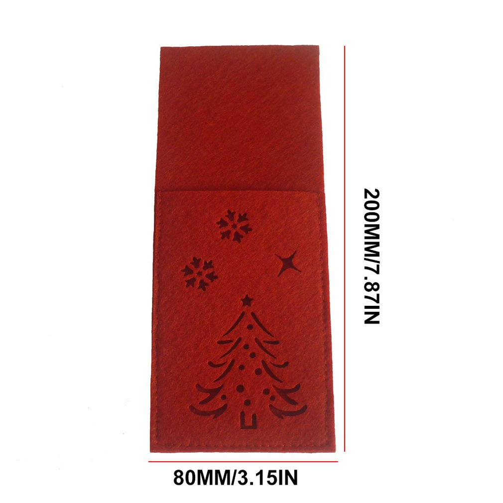 Christmas Stocking Gift Bag Dinner Table Knife Fork Bag Cutlery Pocket Christmas Decorations Party Supplies in Mats Pads from Home Garden
