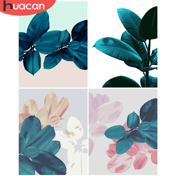 HUACAN Oil Painting By Number Flowers Drawing On Canvas Gift DIY Pictures By Numbers Kits Hand Painted Paintings Art Home Decor
