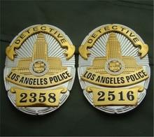Estados Unidos LA Los Angeles Camisa Lapela Emblemas LAPD Detetive Policial Crachá Broche Pin Insignia Réplica 1:1 Cos Presentes