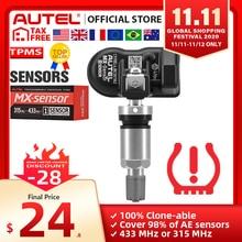 AUTEL MX Sensor 433 315 TPMS Mx Sensor Scan Tire Repair Tools Automotive Accessory Tyre Pressure Monitor MaxiTPMS Pad Programmer