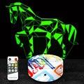 3D светильник, ночник в виде лошади, подарки, игрушки для детей, мальчиков, 7 цветов, с пультом дистанционного управления, сенсорный светодиод...