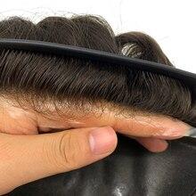 Человеческие волосы, тонкая кожа, искусственная кожа, замена, Мужская Т-система, человеческие волосы, мужские волосы