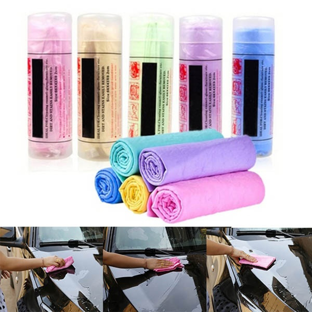 Color Random Car Wash Towel Cleaner Car Body Window Cleaning Rag Water Absorption Drying Cloth Home Supplies