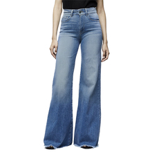 Puimentiua Women Elastic Jeans Casual Button Washed Denim Pant Femme Pocket Trouser Boot Cut Straight Line Flare Jeans Plus Size