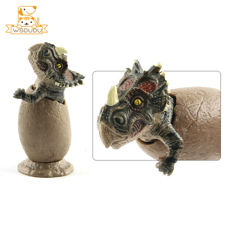 Mini Triceratops Dinosaur Eggs Action Figures Park Model Dolls Animal Toys For Collection Adult Decor Gift Educational Figurines