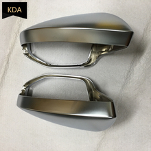 Rearview-Mirror-Cover A6 C8 Chrome Audi Silver Left 2pcs Matt Auto for A7 Right-Side