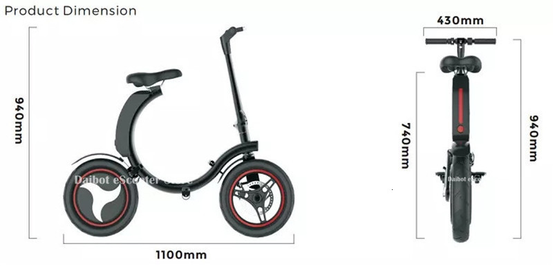 14 Inch Folding Electric Scooter 2 Wheel Electric Scooters 500W Portable Electic Bike with APP (12)