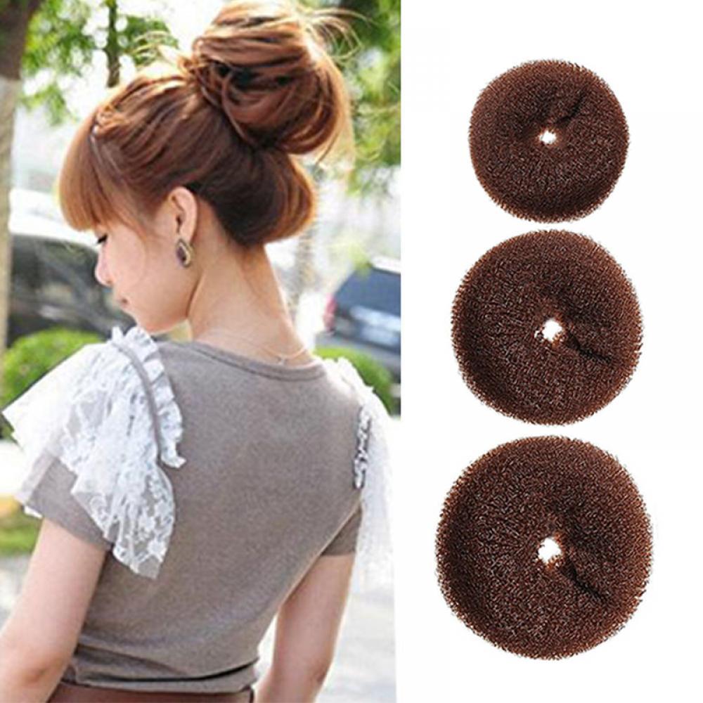 3 Size Fashion Women Magic Shaper Donut Hair Ring Bun Hair Styling Tools Accessories Hair Braiders Tools For Lady Hair Bun Make