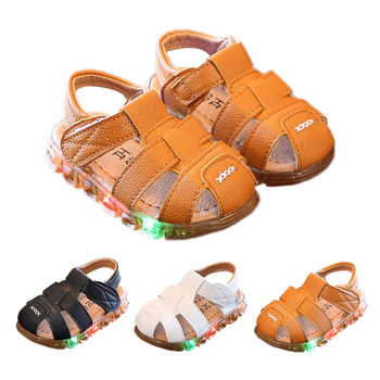 Baby Boy Shoes  Soft Sole Sandals Summer  Anti-slip Prewalkers First Walkers Casual LED Design Walking Shoes Baby Crib Shoes недорого