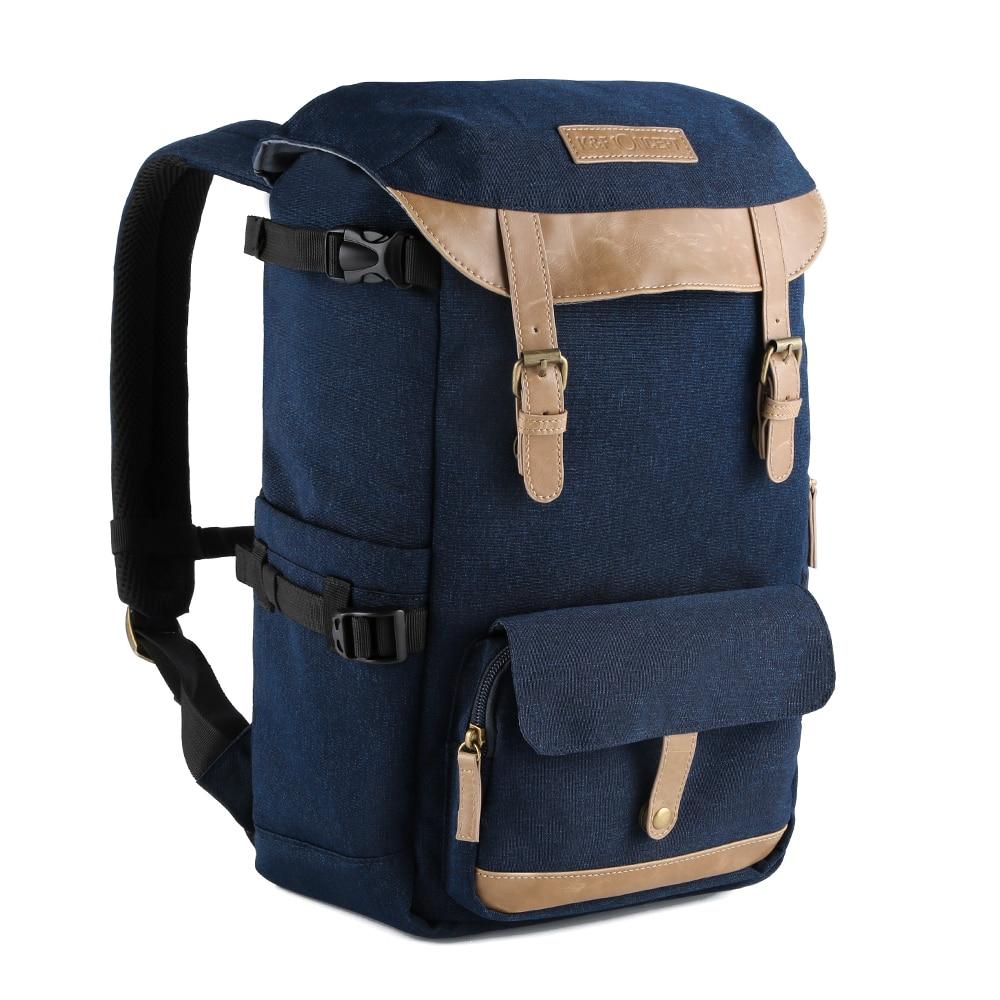 K & F CONCEPT professionnel voyage caméra sac à dos étui avec support de trépied compartiments latéraux housse de pluie pour appareil photo numérique