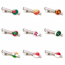 Southeast and South Asia Flag Men Tie Clips Silver Alloy Tie Bar Clip Pins India Pakistan Sri Lanka Singapore Flag Tieclip rn kearney kearney politics and modernization in south and southeast asia