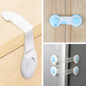 10pcs Child Safety Cabinet Lock Baby Proof Security Protector Drawer Door Cabinet Lock Plastic Protection Kids Safety Door Lock(China)