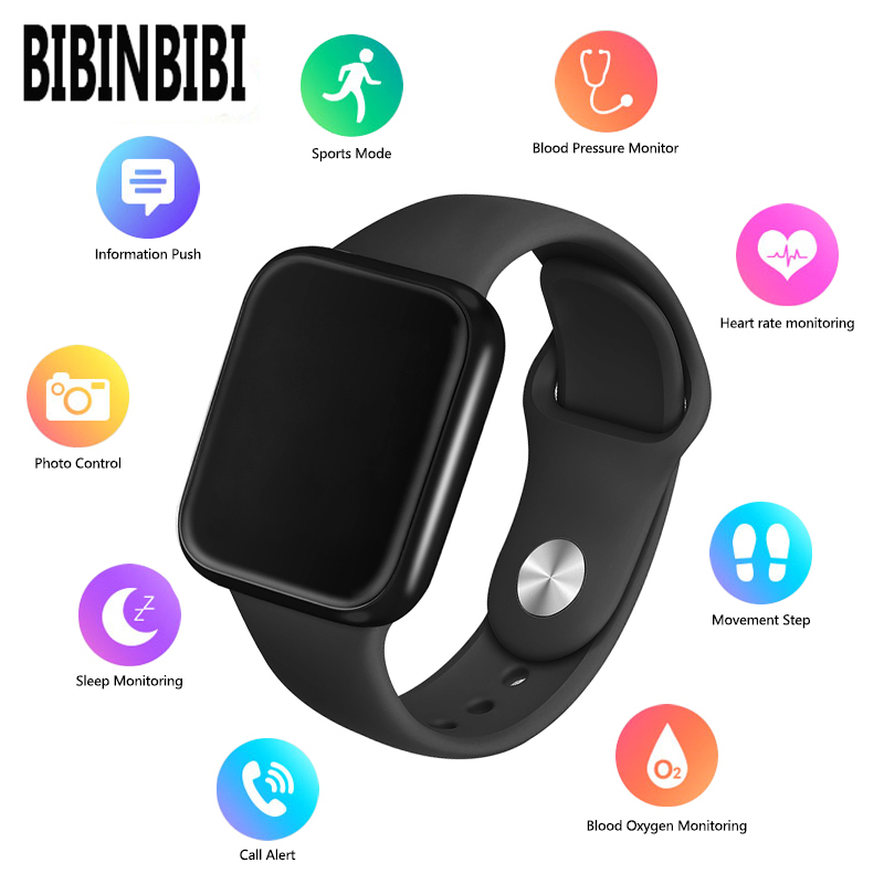 <font><b>P70</b></font> P68 Smart Watch Blood Pressure Heart Rate Monitor IP68 Fitness Bracelet Watch Women Men <font><b>Smartwatch</b></font> for IOS Android image