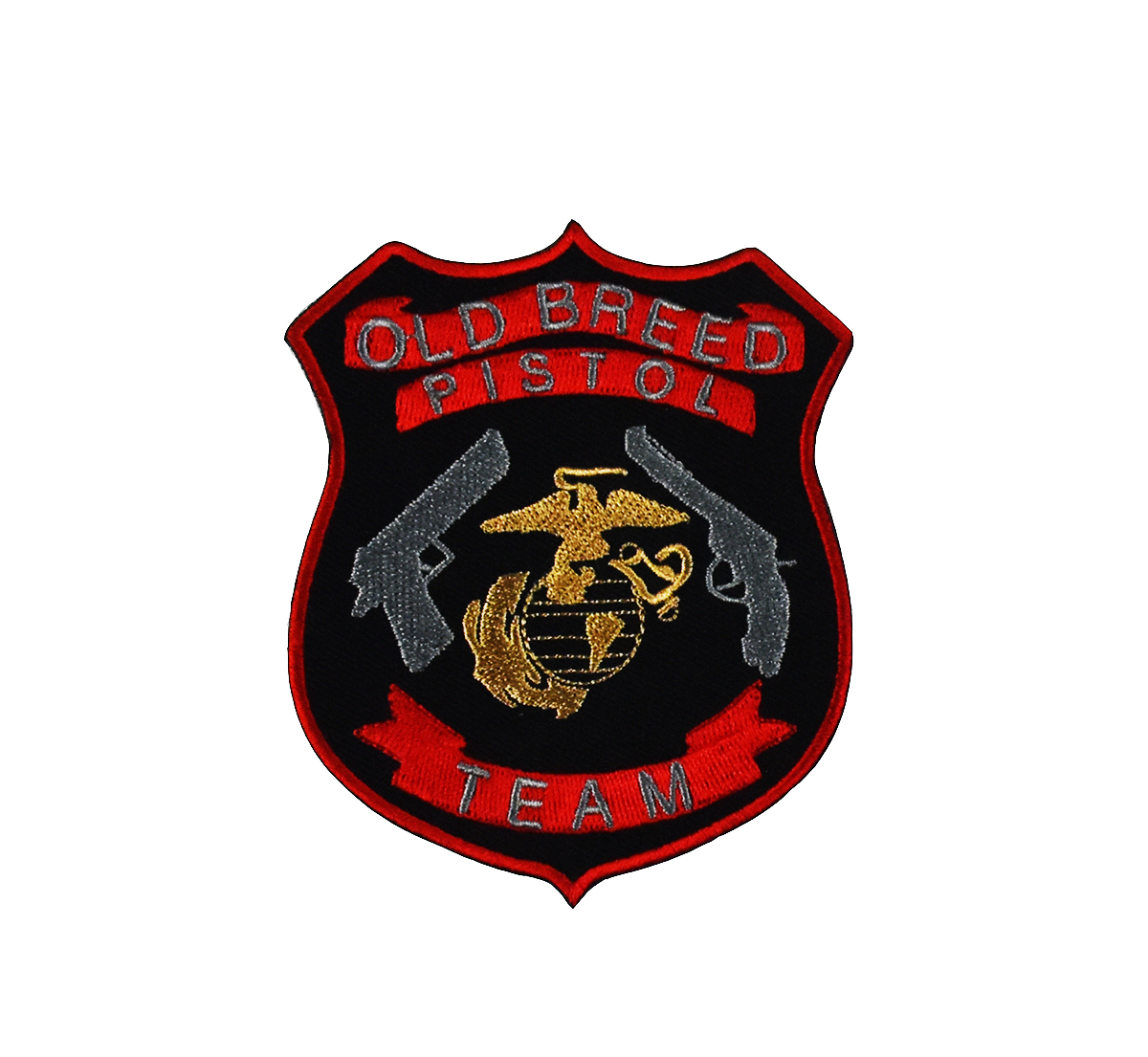 Old Breed Pistol Team <font><b>Patches</b></font> Biker Rider Vest <font><b>MC</b></font> Embroidered Stickers Badge For Jacket Rock Iron On military army <font><b>Patch</b></font> Clothes image